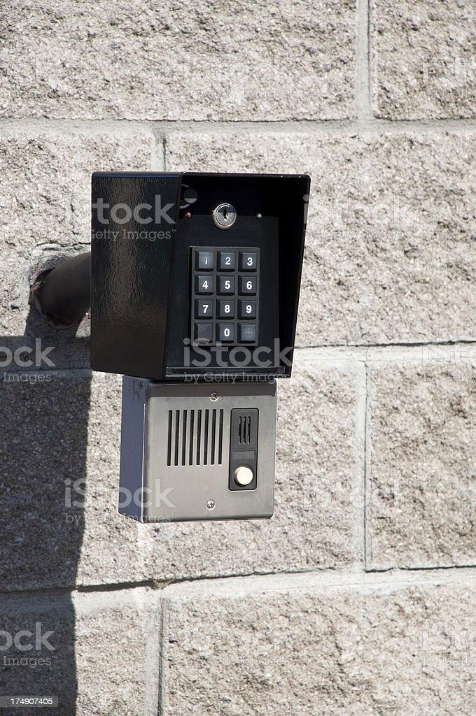 Security key pad stock photo