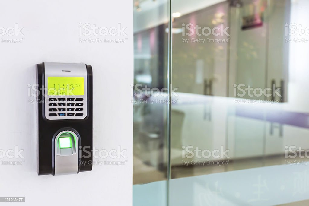 Security keypad for access control stock photo