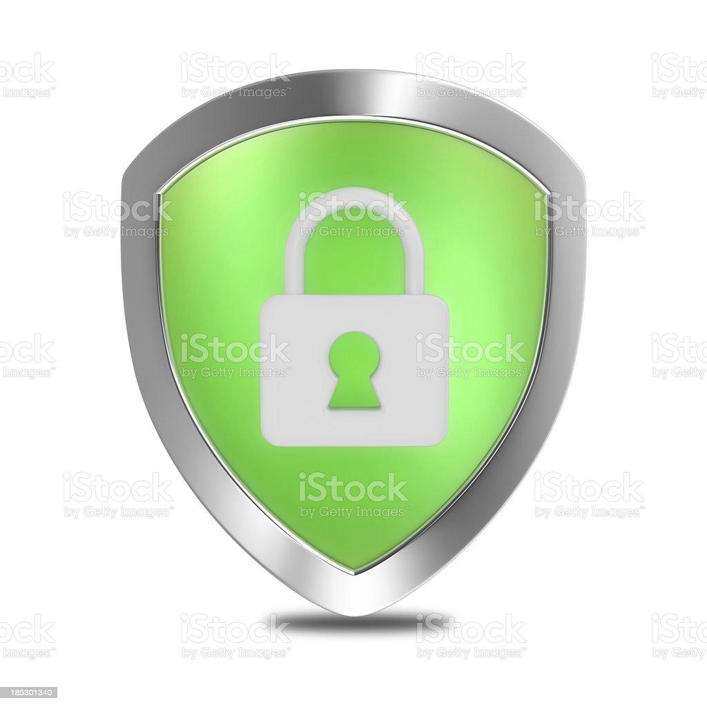 Security Lock Shield royalty-free stock photo
