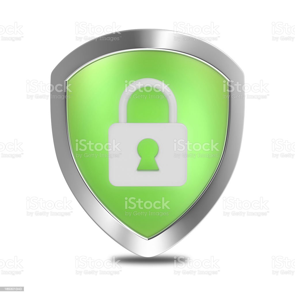 Security Lock Shield stock photo