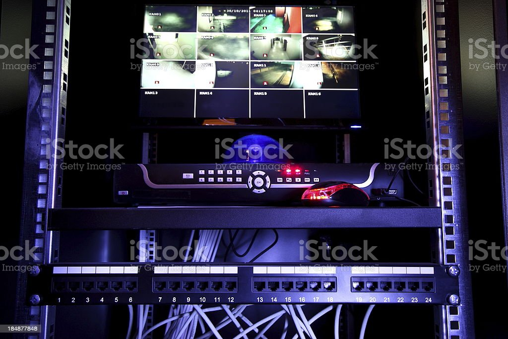 Security Monitor royalty-free stock photo