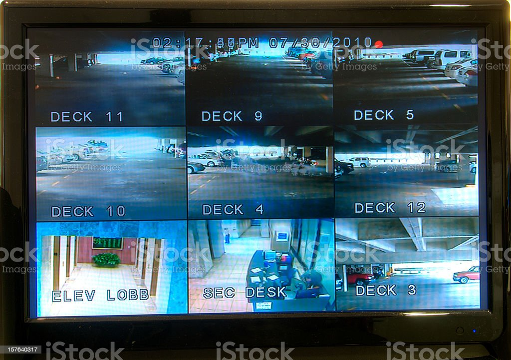 Security Monitoring Screen stock photo