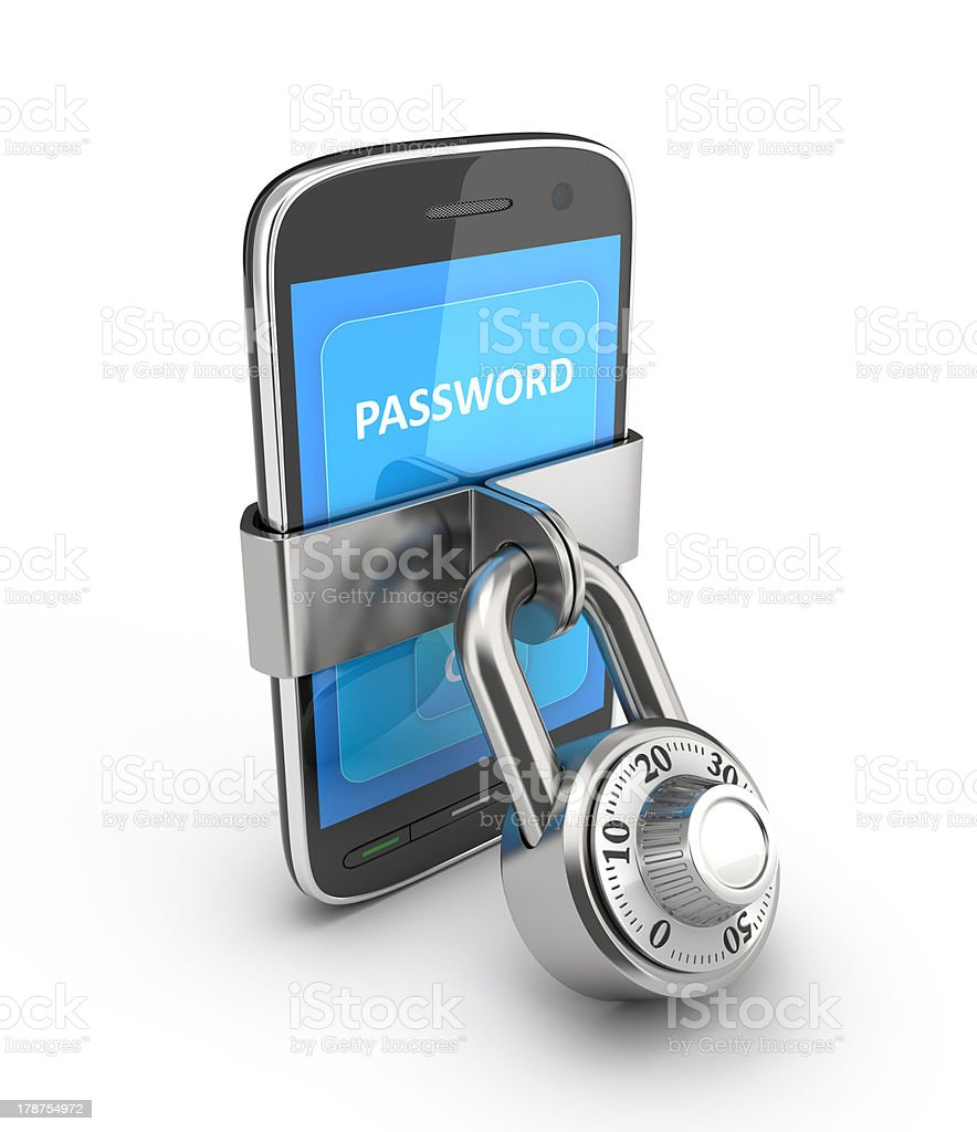 Security of mobile devices. royalty-free stock photo