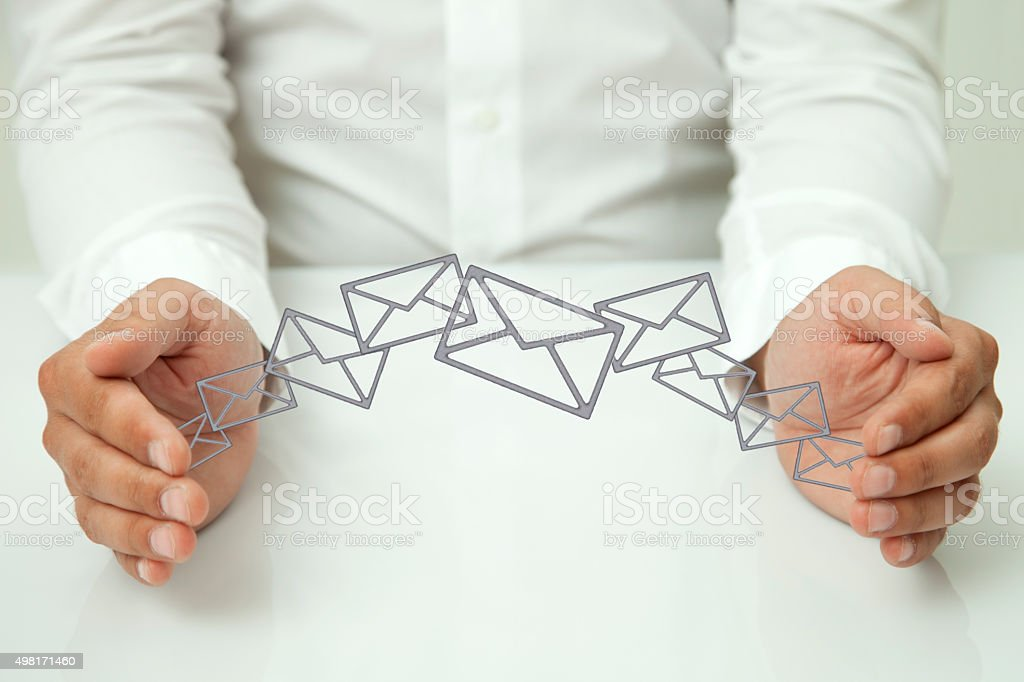 security of the transferred data stock photo
