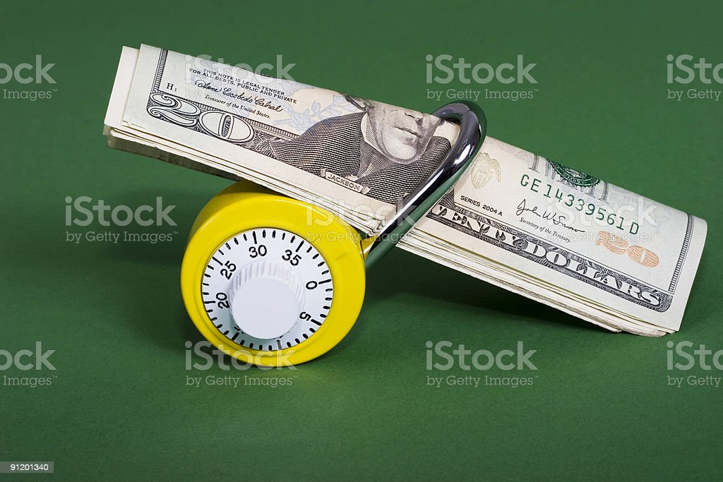 Security of your savings royalty-free stock photo