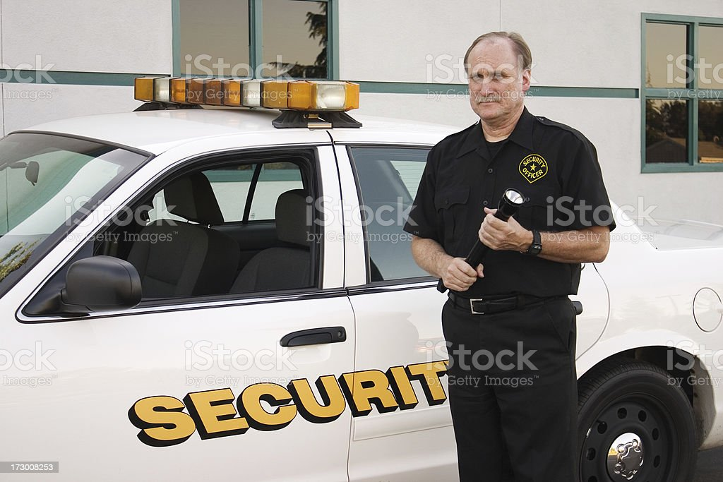 Security Officer on Patrol royalty-free stock photo