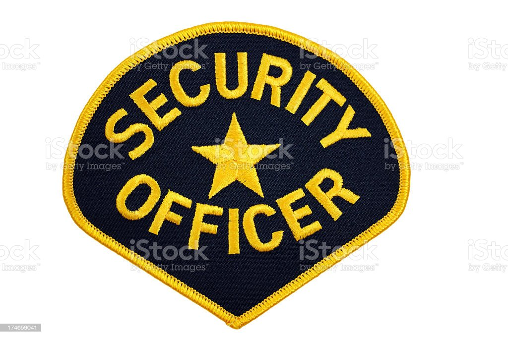 Security Officer Patch stock photo