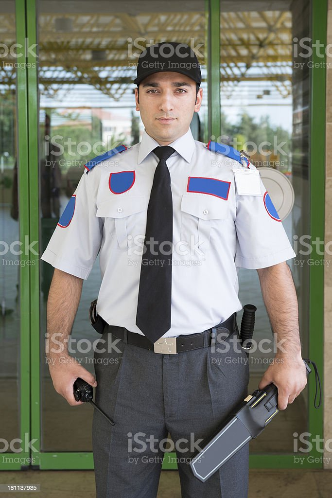 security officer royalty-free stock photo
