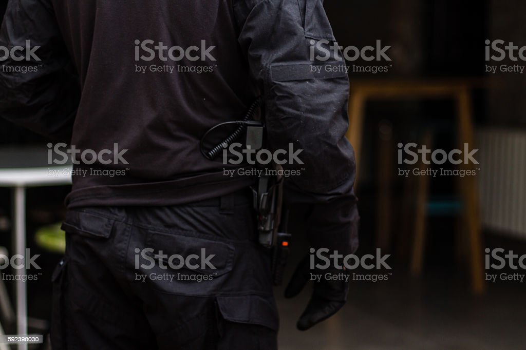 Security Officer stock photo