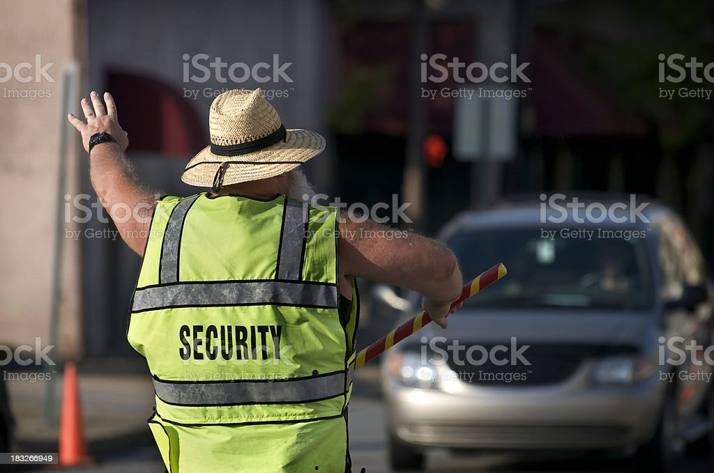 Security Officer/Traffic Cop/Crossing Guard stock photo