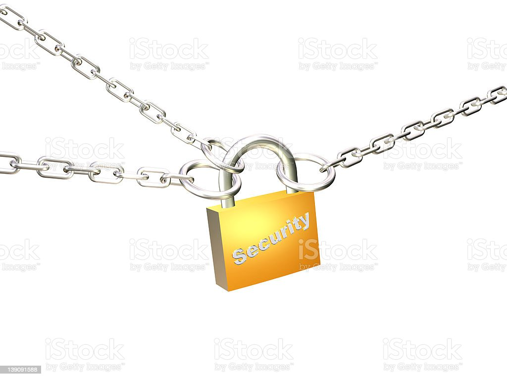 security (path included) royalty-free stock photo