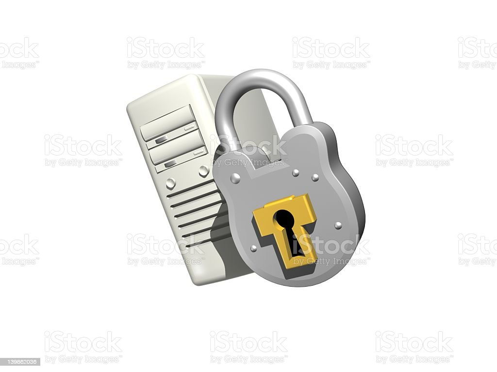 PC Security royalty-free stock photo