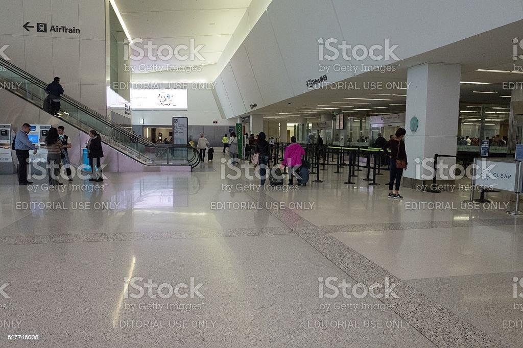 SFO Security stock photo