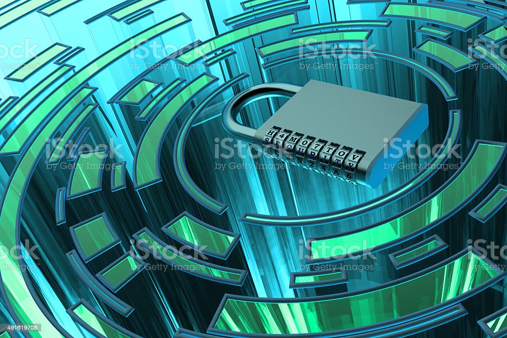 Security, privacy, protection and safety data access concept stock photo