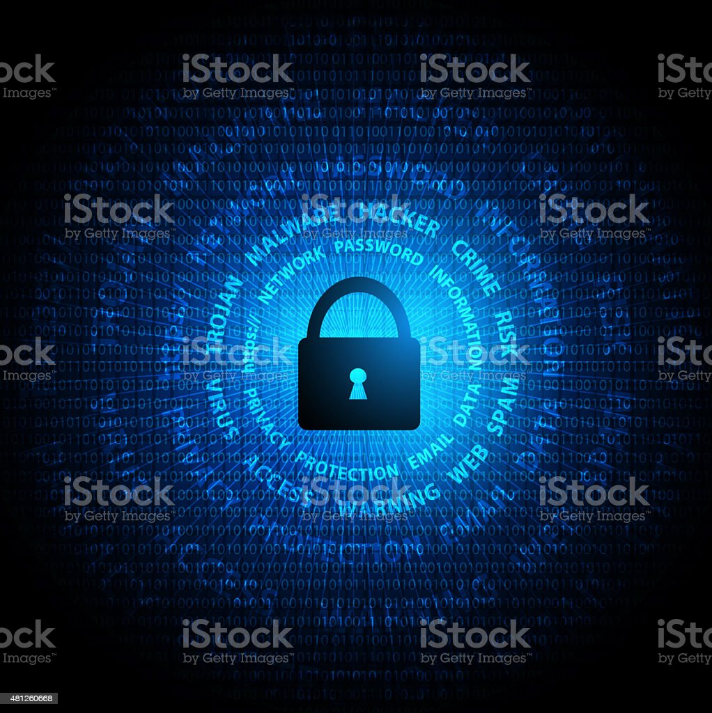 Security protection vector art illustration
