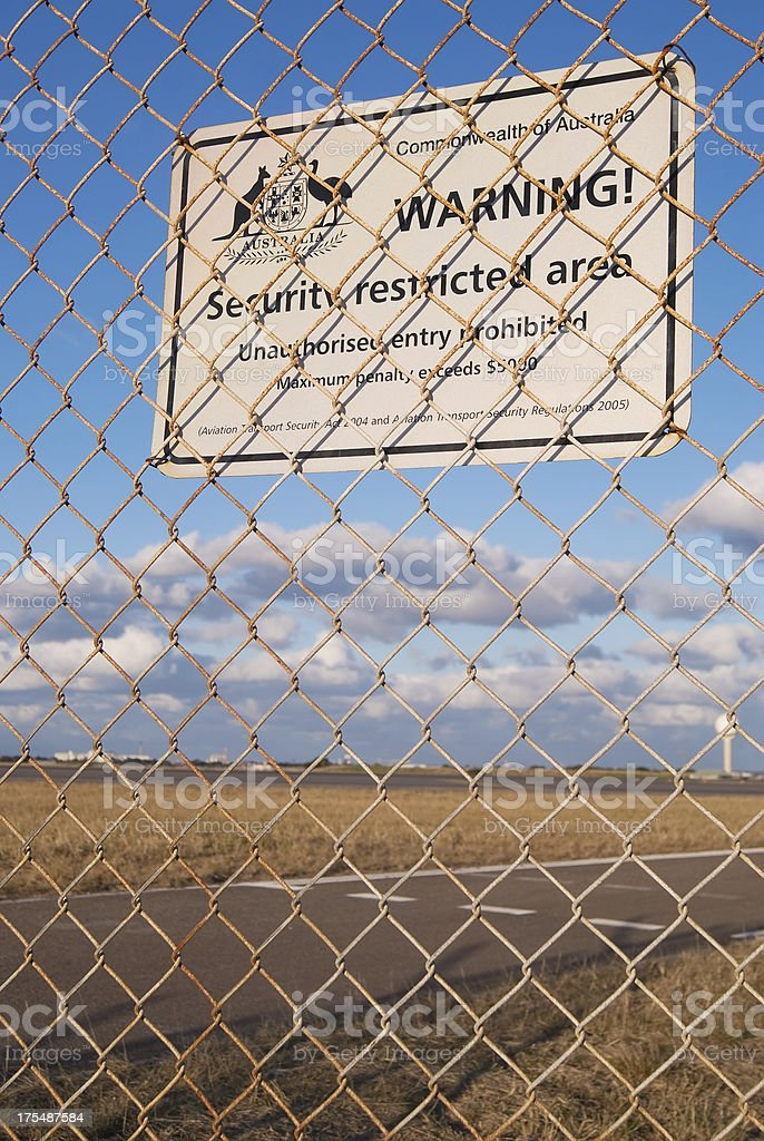 Security Restricted Area royalty-free stock photo