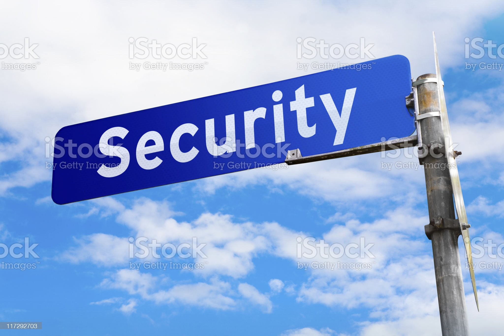 Security Road Sign royalty-free stock photo