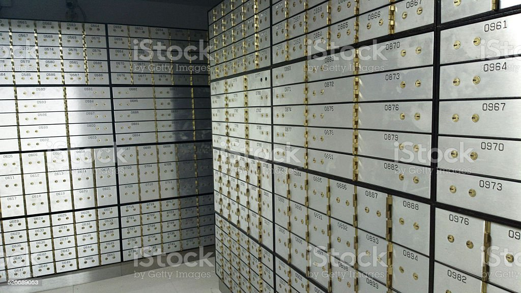 Security Safe Locker In The Room stock photo