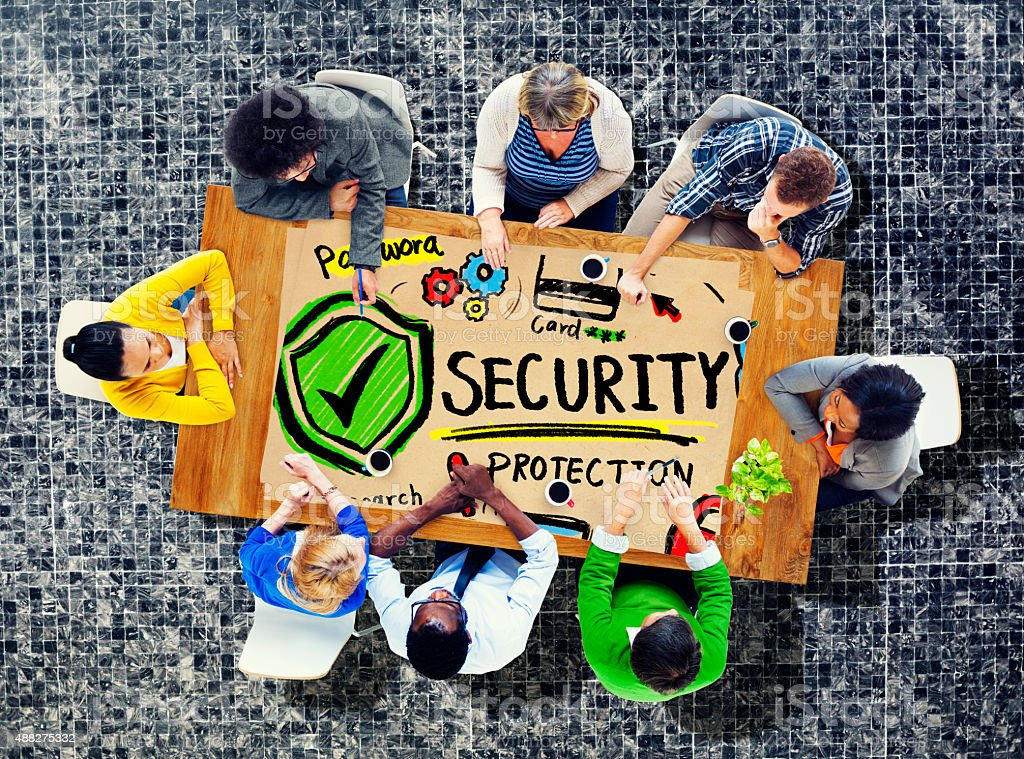 Security Shield Protection Privacy Network Concept stock photo