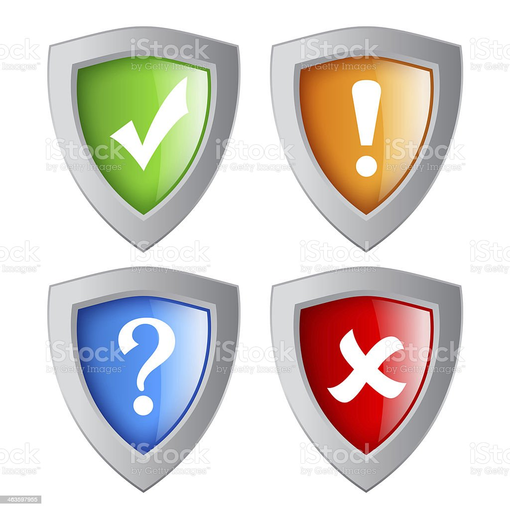 Security shields royalty-free stock photo