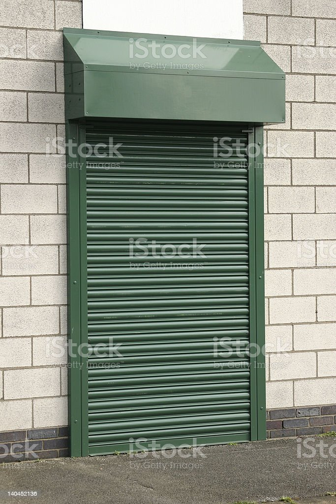 Security Shutter royalty-free stock photo