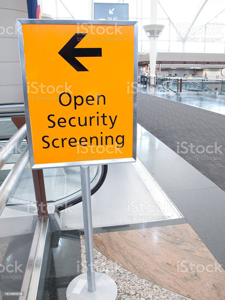 Security Sign stock photo