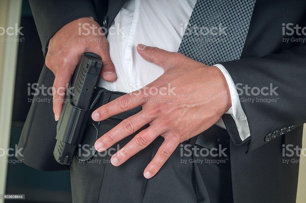 Security staff stock photo