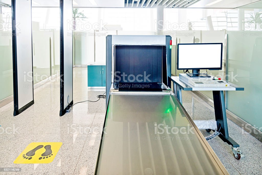 Security station stock photo