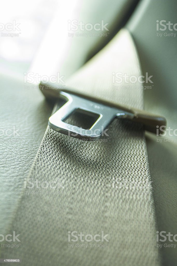 Security Strap in New Car stock photo