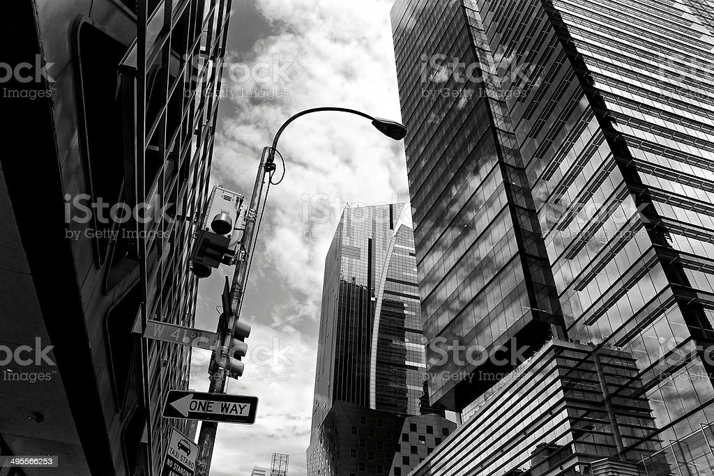 NYPD CCTV Security Surveillance camera, Midtown Manhattan, NYC royalty-free stock photo