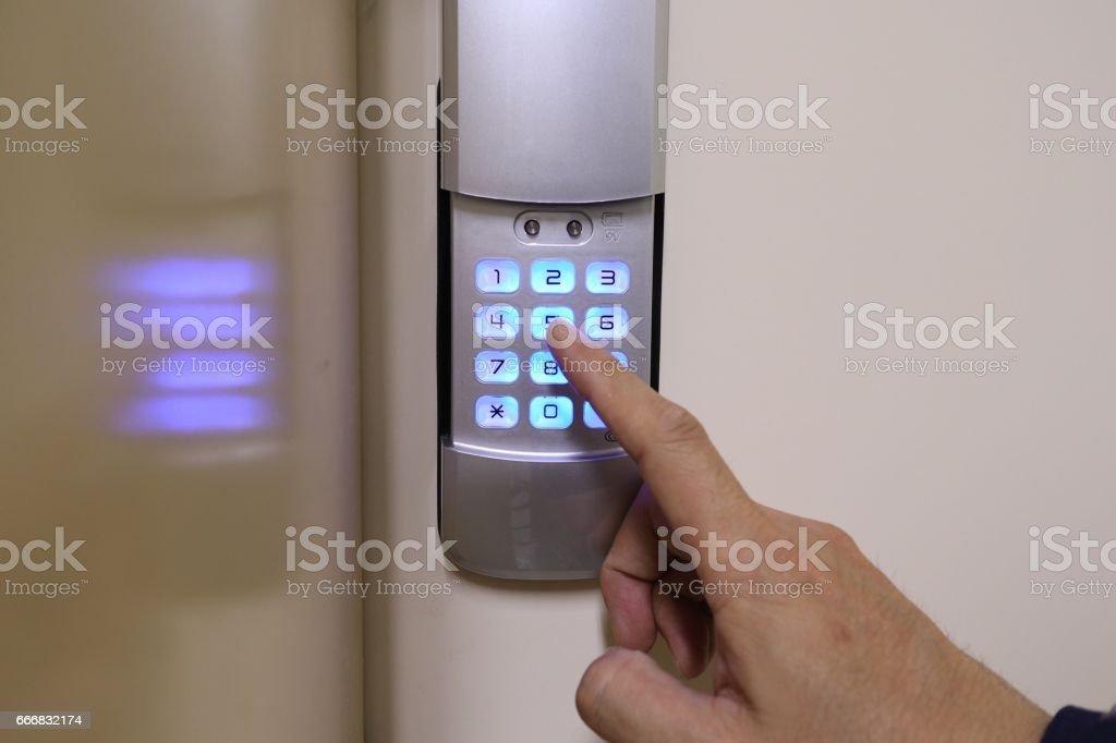 Security System Door Locks stock photo