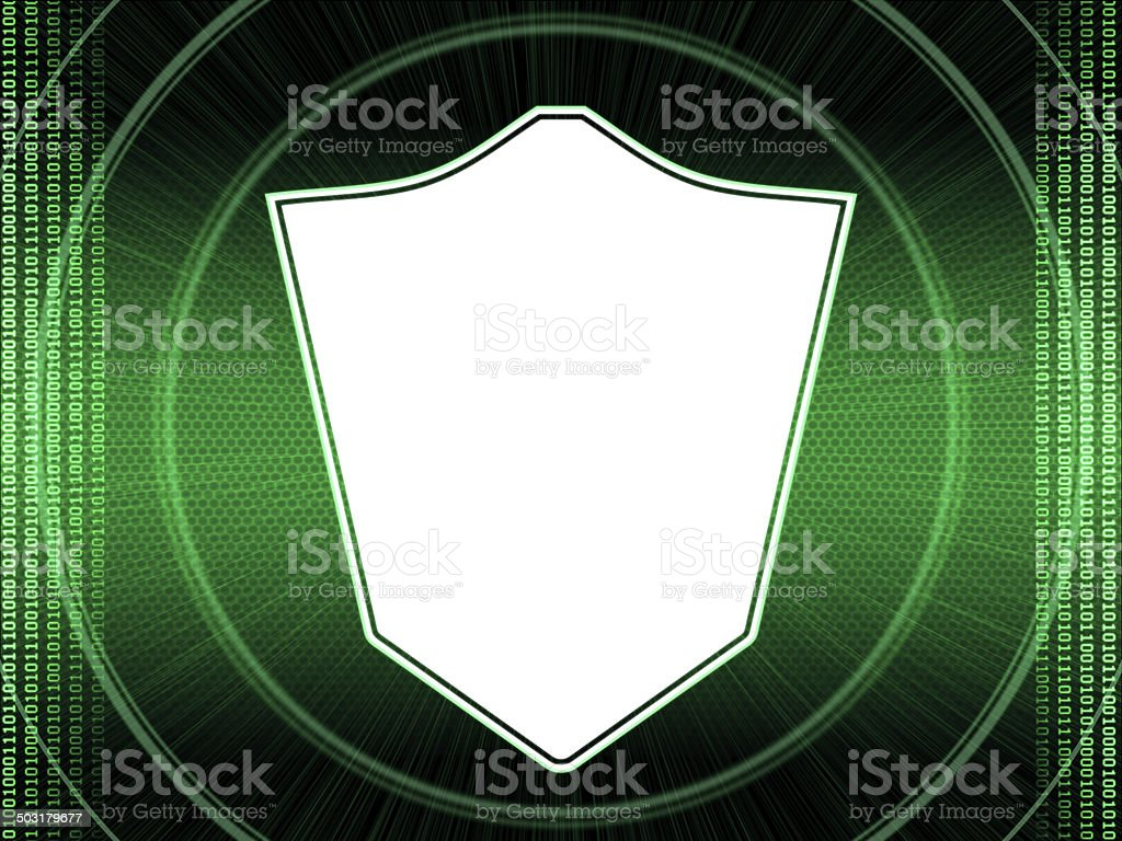 Security System Shield royalty-free stock photo