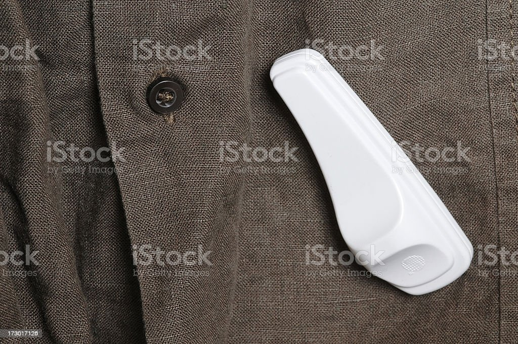 Security tag royalty-free stock photo