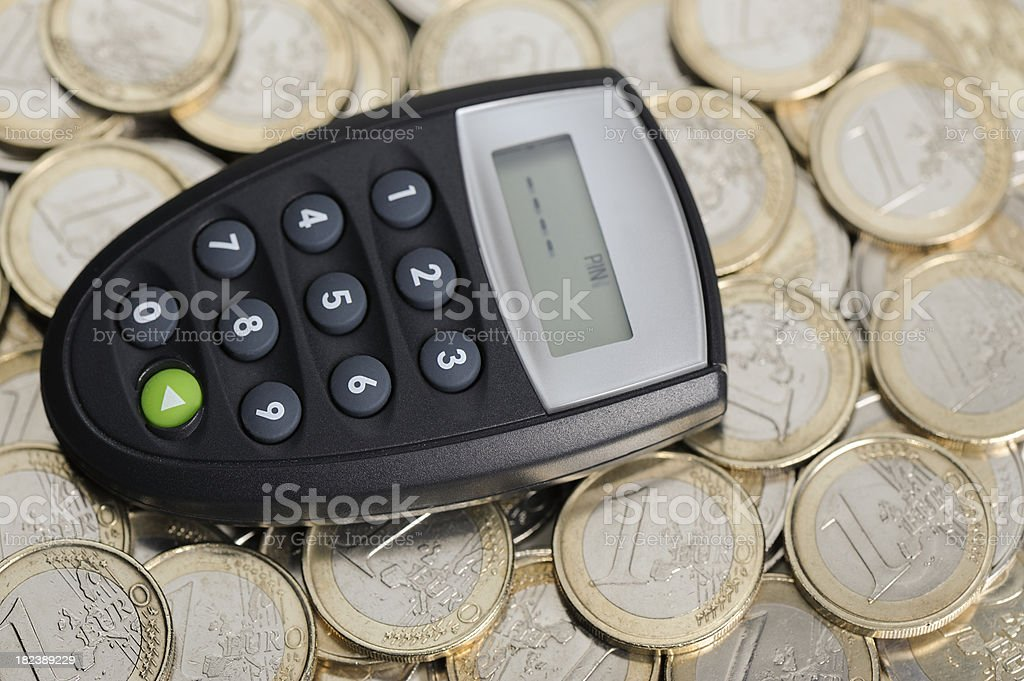 Security token for electronic banking stock photo