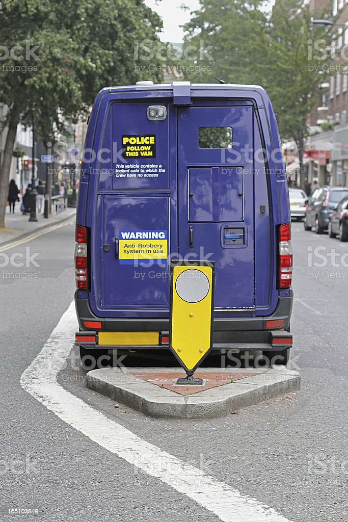 Security van royalty-free stock photo