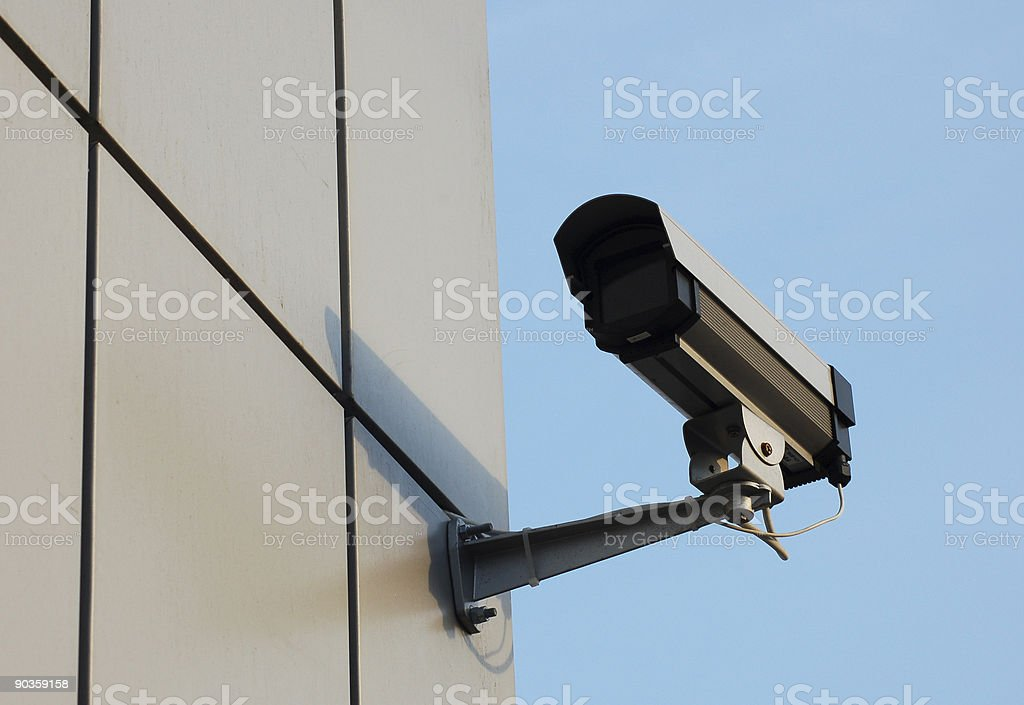 Security video camera royalty-free stock photo