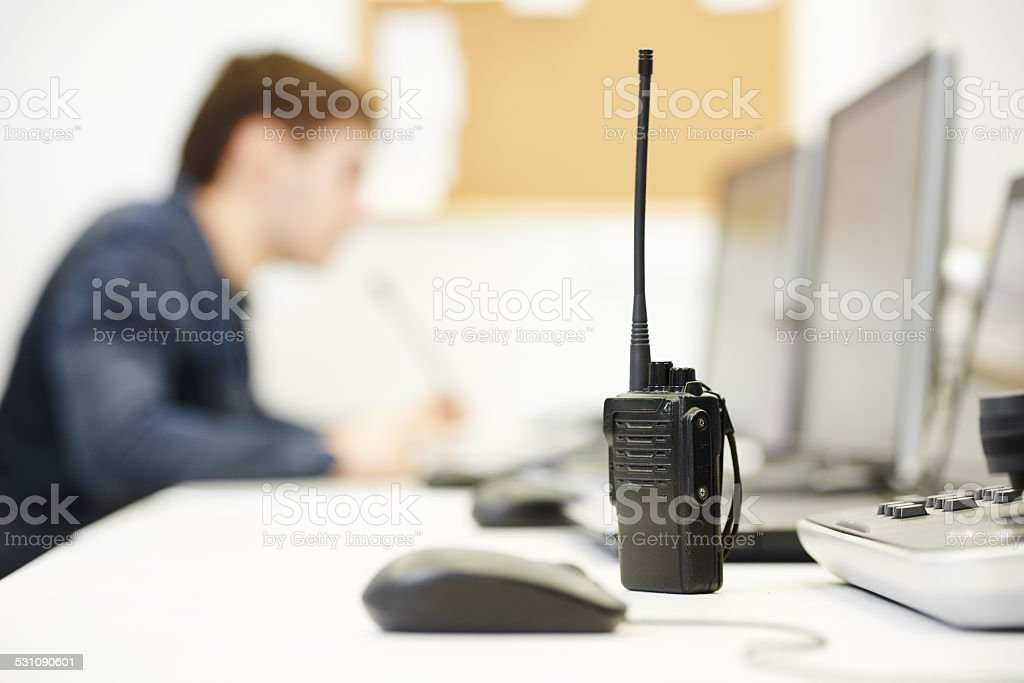Security video surveillance equipment stock photo