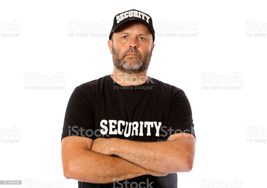 Security Worker stock photo