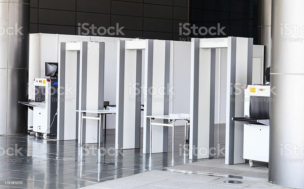 Security zone stock photo