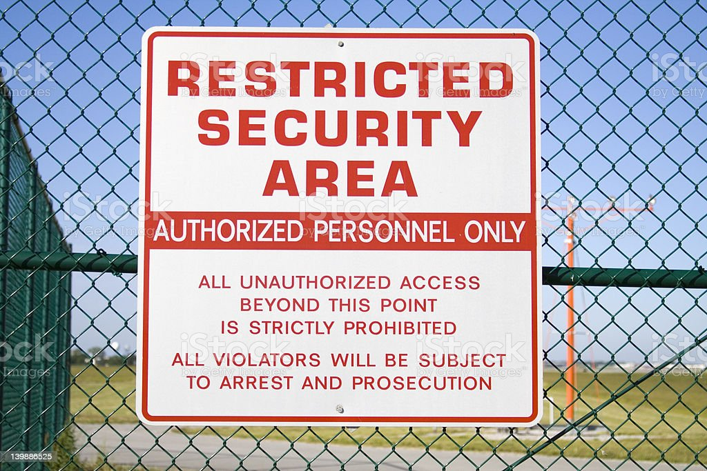 Securty Sign stock photo