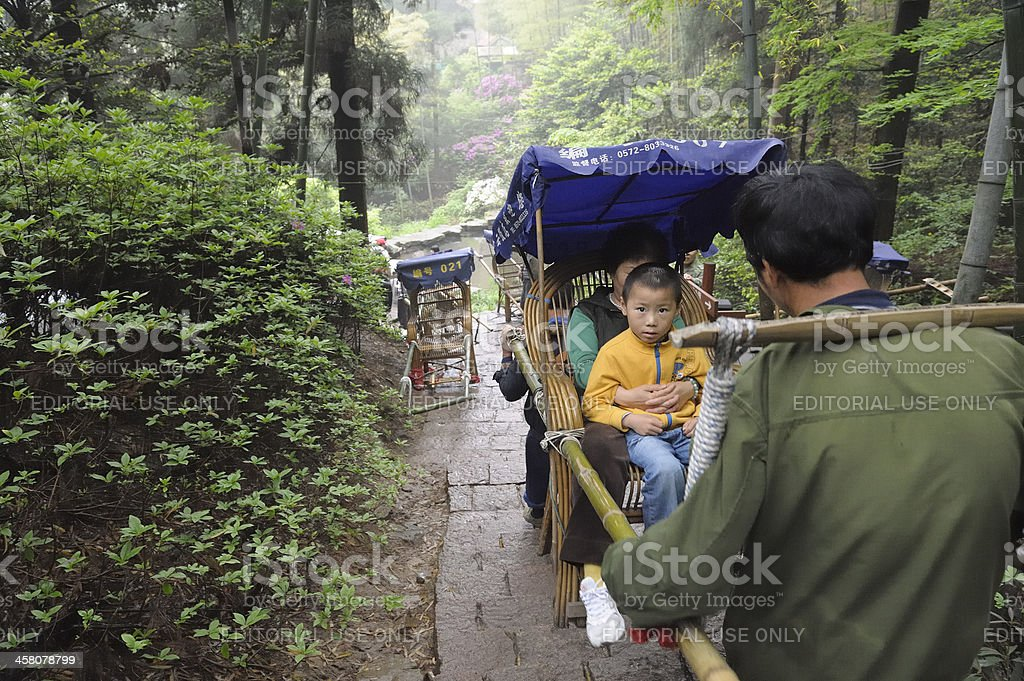 Sedan chair in China stock photo