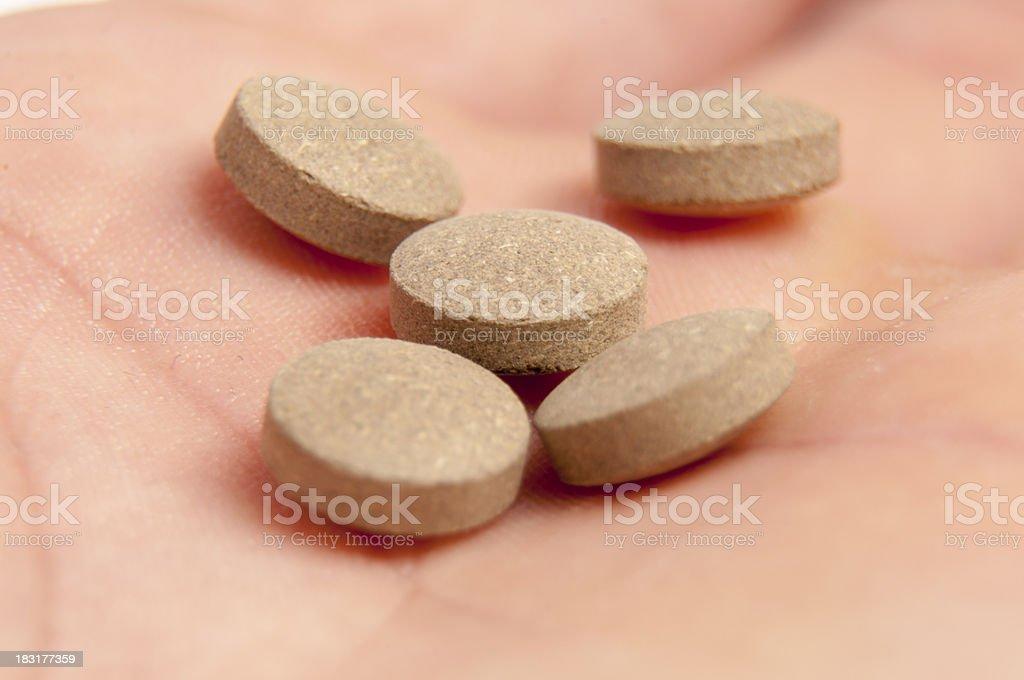 Sedative pills stock photo