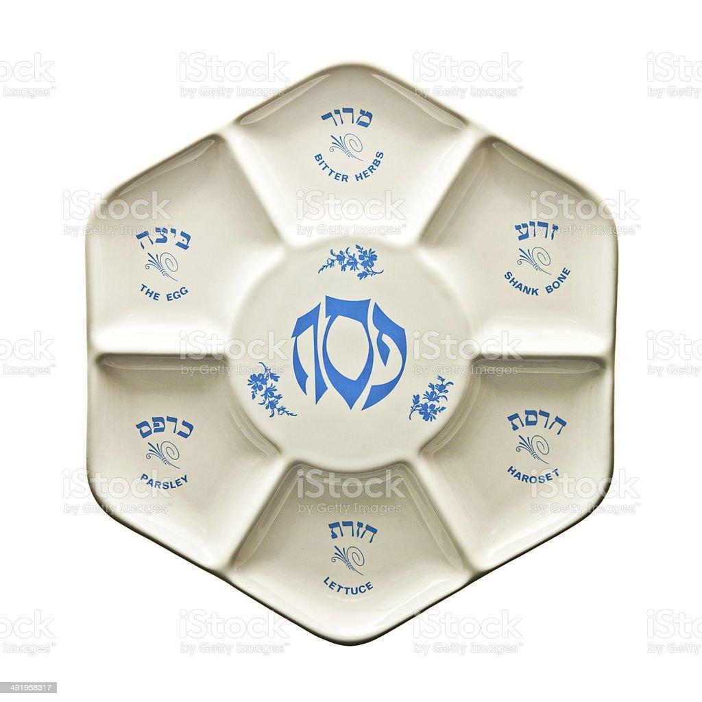 Seder Plate stock photo