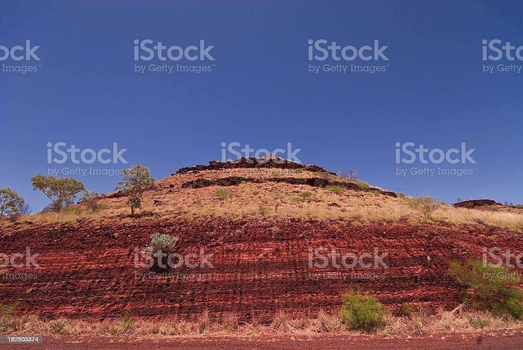 sediment layers Karijini National Park stock photo