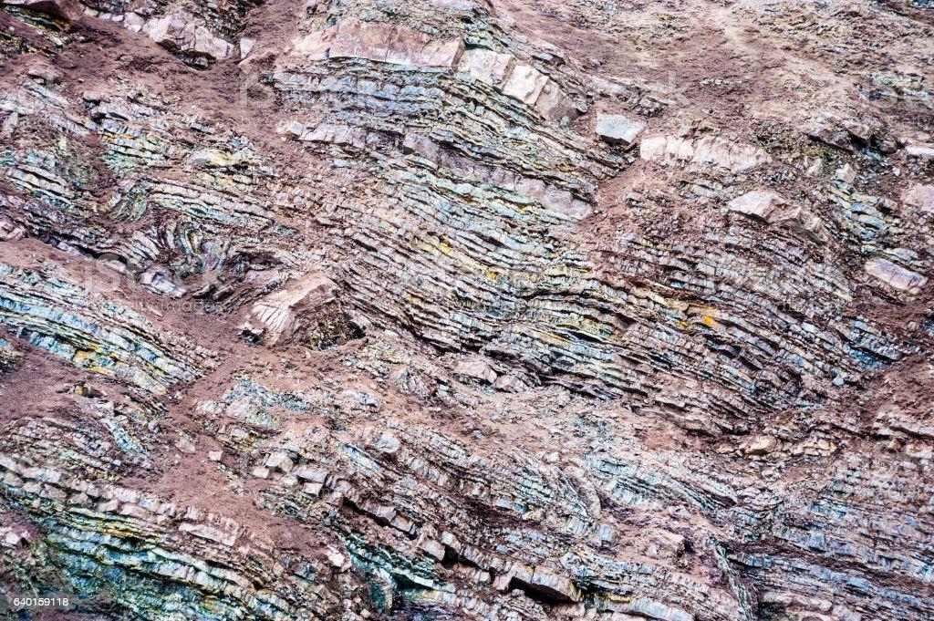 sedimentary layers 2 stock photo