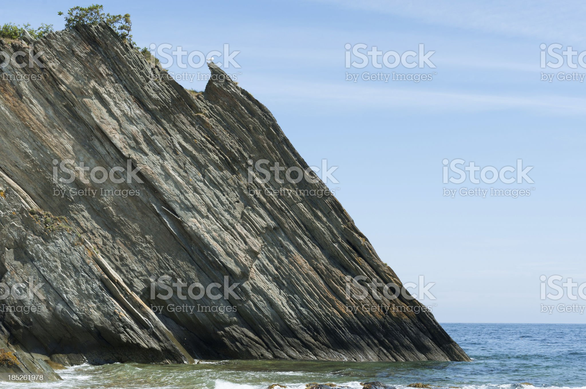 Sedimentary Rock royalty-free stock photo