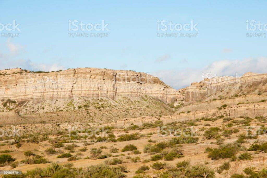 Sedimentary Rocks - Catamarca - Argentina stock photo