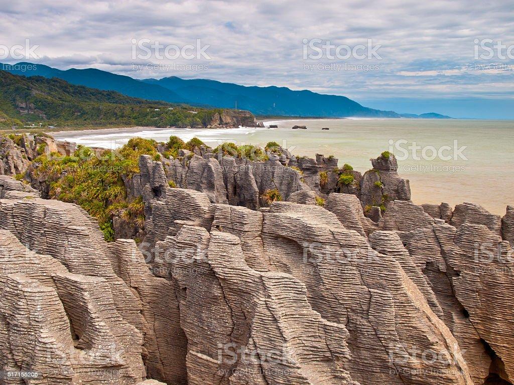 Sedimentary Rocks New Zealand stock photo