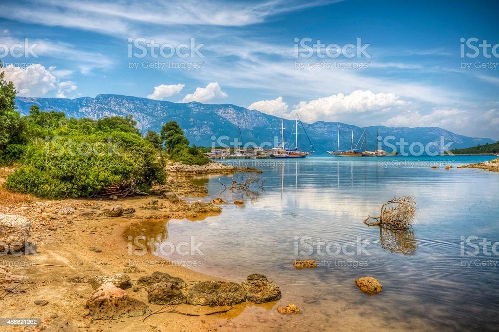 Sedir Island, Marmaris stock photo