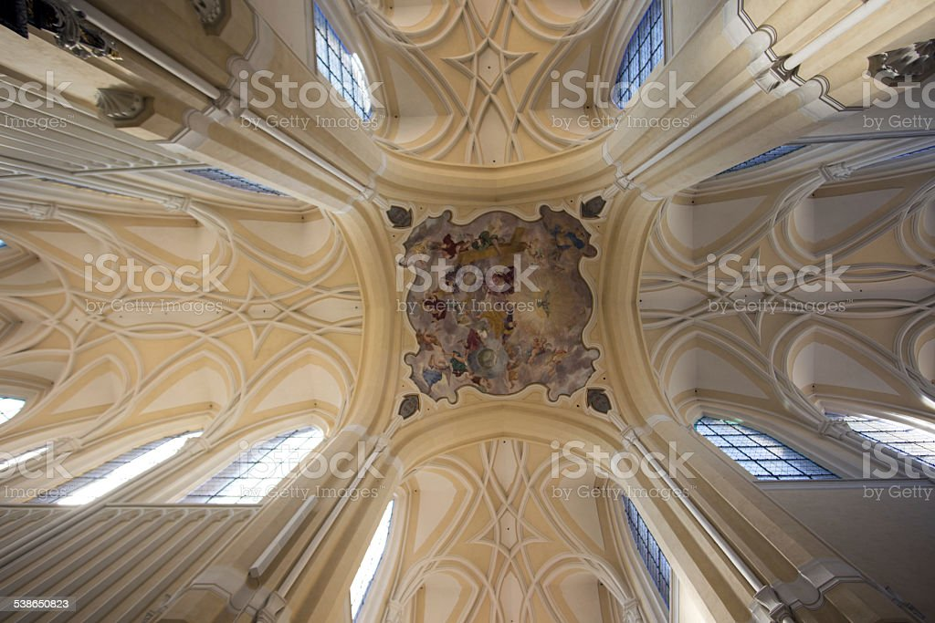 Sedlec Cathedral beautiful dome stock photo